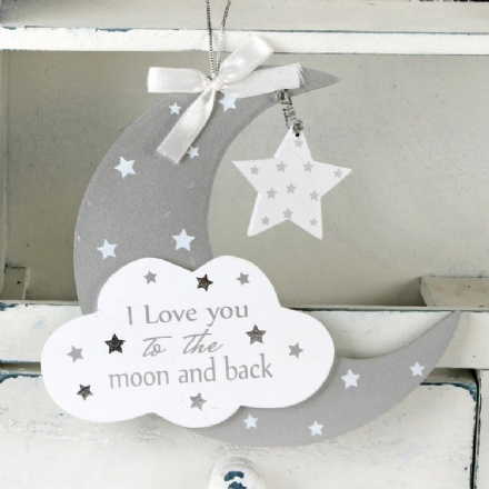 Moon Hanging Plaque